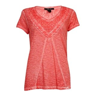 Style & Co Women's Mineral Washed V-Neck Blouse