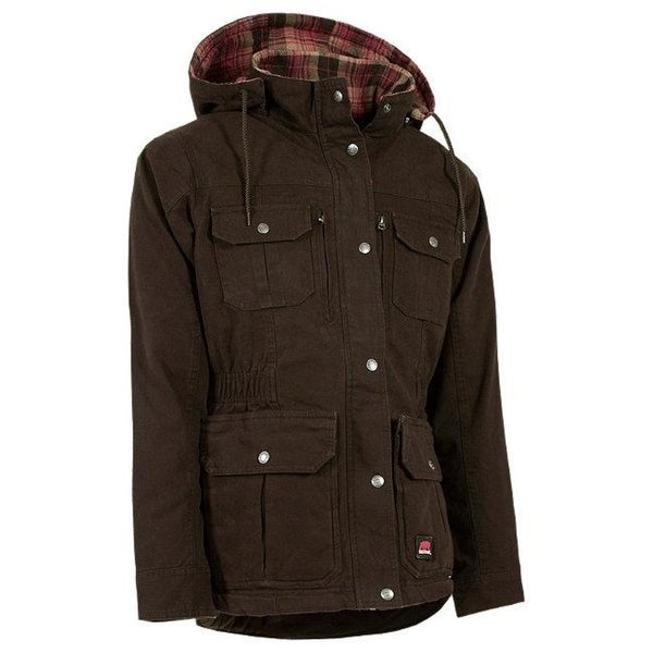 Berne Apparel Ccwl03Dbnr520 Ladies Lima One Three Jacket Dark Brown - 2Xl - Regular