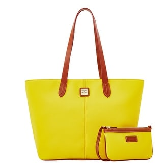 Dooney & Bourke Eva Large Zip Shopper and Wristlet (Introduced by Dooney & Bourke at $268 in Jul 2015) - Sunflower
