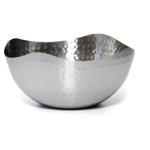 Bezrat Hammered Stainless Steel Serving Bowl