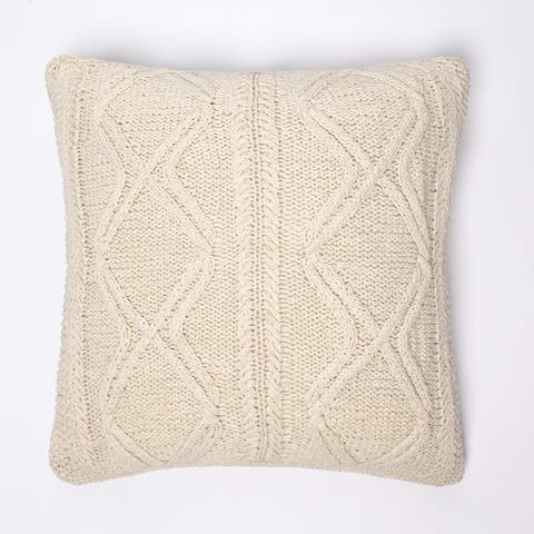 Cottage Home Rudy Knitted Euro Square Pillow