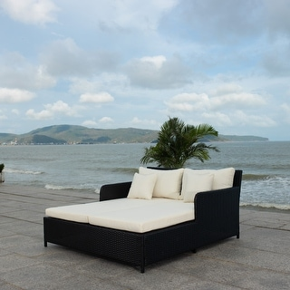 Link to Safavieh Cadeo Outdoor Daybed Similar Items in Outdoor Sofas, Chairs & Sectionals