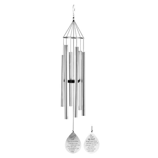 """42"""" Silver Colored """"God's Gift"""" Windchime Hanging - N/A"""