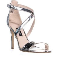 Nine West Mydebut Dress Heel Sandals, Silver
