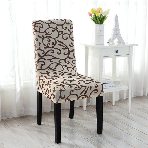 Dining Room Slip Covers: Shop 6Pcs Elastic Short Decorative Slipcovers Chair Covers