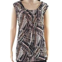 Kasper Black Women's Size 1X Plus Shimmer Scoop Neck Knit Top