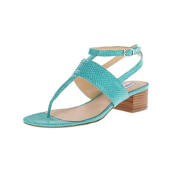 49917b04ba6 Steve Madden Womens Verro T-Strap Sandals Faux Leather Block Heel - 10  Medium (