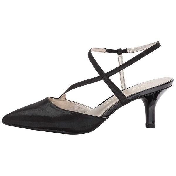 Anne Klein Womens Ferdie Pointed Toe Ankle Strap Classic Pumps