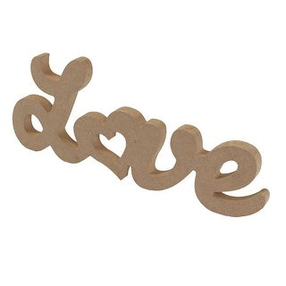 Wedding LOVE Shaped English Letter Alphabet Wall Desktop Decoration Wood Color