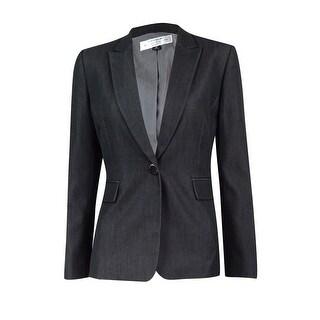 Tahari Women's Petite Single-Button Blazer - grey