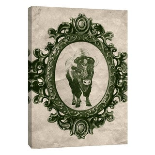"PTM Images 9-108962  PTM Canvas Collection 10"" x 8"" - ""Framed Bison in Evergreen"" Giclee Buffalo Art Print on Canvas"