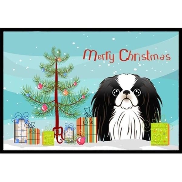 Carolines Treasures BB1602MAT Christmas Tree & Japanese Chin Indoor or Outdoor Mat 18 x 27