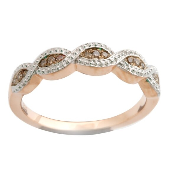 Fabulous Round Brilliant Cut Natural Brown Diamond Wedding Band Ring