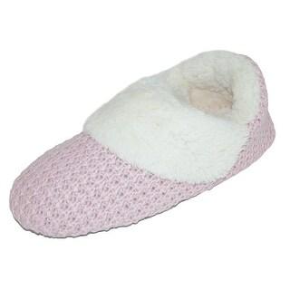 Dearfoams Women's Sweater Knit Bootie Slippers