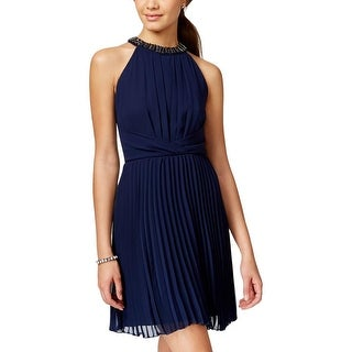 B. Darlin Womens Juniors Cocktail Dress Chiffon Embellished