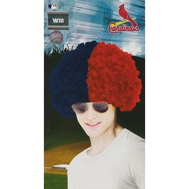 St. Louis Cardinals Wig Baseball Halloween Accessory
