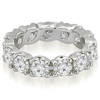4.80 cttw. 14K White Gold Round Diamond Eternity Ring