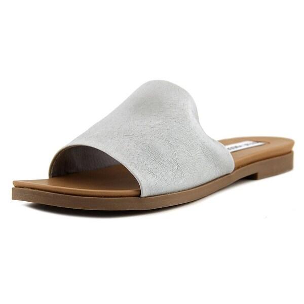 0b5d5679dee Shop Steve Madden Karolyn Women Open Toe Leather Black Slides Sandal ...