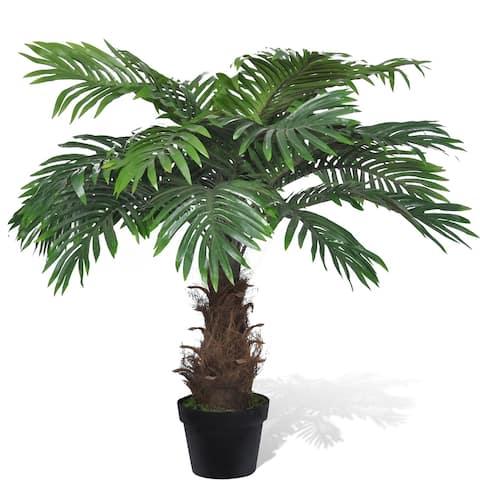 "vidaXL Lifelike Artificial Cycas Palm Tree with Pot 31"""