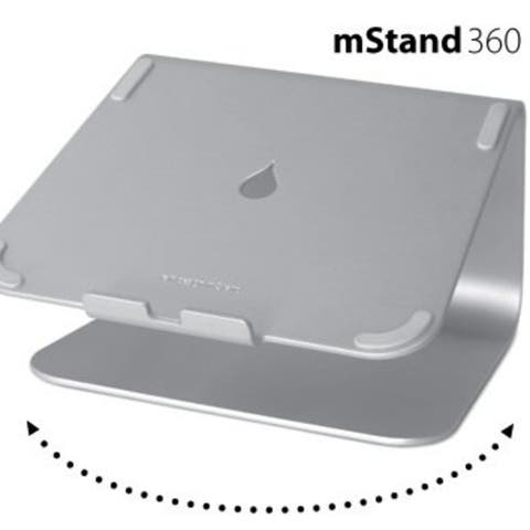 Rain Design 10036 mStand360 Laptop Stand with Swivel Base Silver