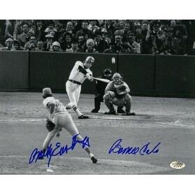 Signed Rawly Eastwick signed Cincinnati Reds 8x10 Photo 1975 World Series Game 6 Homerun wBerine Ca