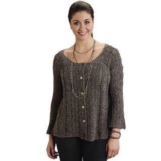 Stetson Western Sweater Womens L/S Cardigan Gray 11-027-0539-0727 GY