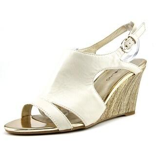 Bandolino Tadaa Open Toe Leather Wedge Heel