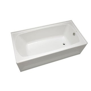 "Mirabelle MIRBDS6030R Bradenton 60"" x 30"" Three-Wall Alcove Soaking Tub with Rig"