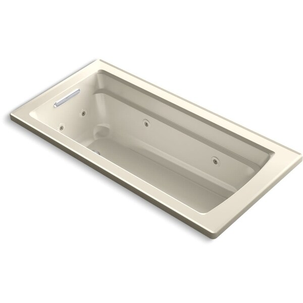 """Kohler K-1949-H Archer 66"""" Drop In Acrylic Soaking Tub with Reversible Drain and Overflow"""