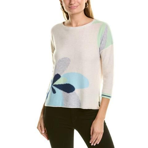 Forte Cashmere Floral Cashmere Pullover