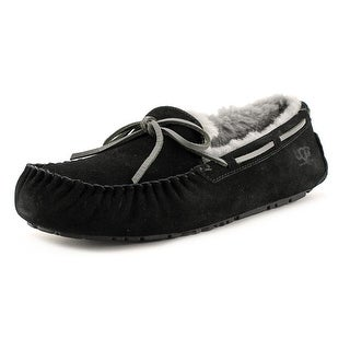 Ugg Australia Olsen Men  Moc Toe Suede Black Slipper