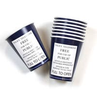 Doctor Who 9oz TARDIS Paper Cups, Set of 8 - Multi