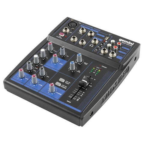Gemini compact 5-channel Bluetooth mixer with USB playback