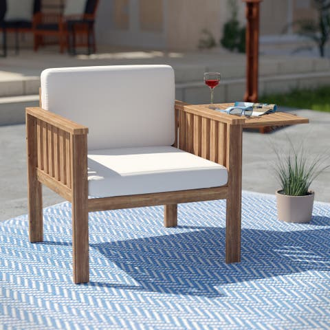 Contemporary Natural Wood Lounge Chair