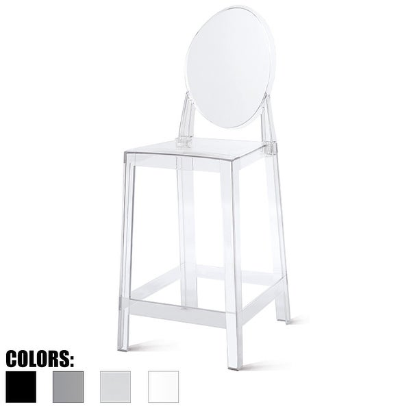"""2xhome - Clear - 25"""" Seat Height With Modern Plastic Side Armless Bar Stool Counter Stool Accent Stool Lounge No Arms"""