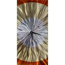 Statements2000 Amber / Copper 24-inch Metal Hanging Wall Clock - Dusk Clock