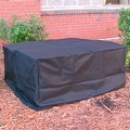 Sunnydaze Heavy Duty Square Black Fire Pit Cover - Thumbnail 0