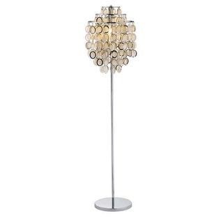 """Adesso 3637 Shimmy 1 Light 59.5"""" Tall Floor Lamp with Paper Disc Shade"""