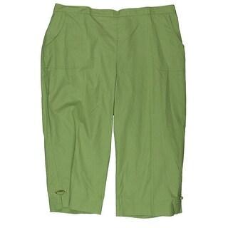 Alfred Dunner Womens Petites Capri Pants Grommet Comfort Waist