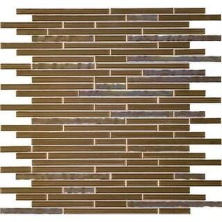 Daltile OP38RANDMP Opulence - Random Linear Mosaic Wall Tile - Smooth Tile Visua - Diamond