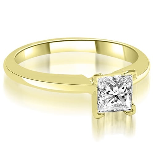 1.00 cttw. 14K Yellow Gold V-Prong Princess Diamond Solitaire Engagement Ring
