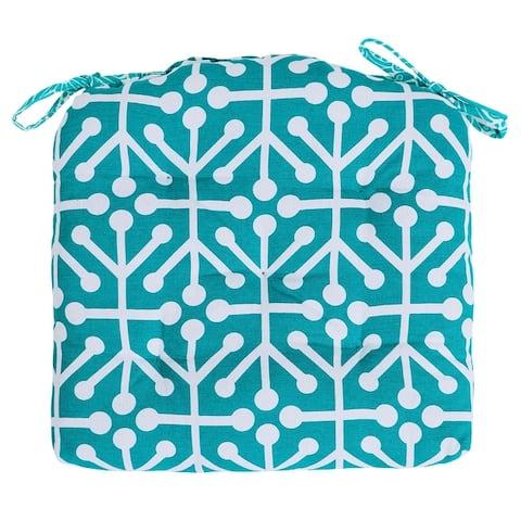 U-shape Hand Made Cotton Cushion (Set of 2) 16''x16'', Cushions for chair, chair cushion, pad with ties