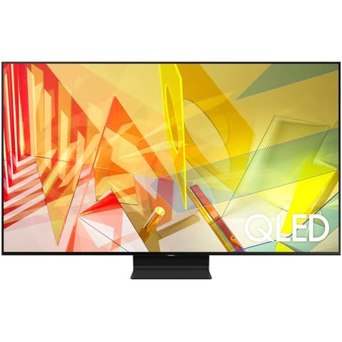 """Samsung Class Q90T 4k 85"""" Smart QLED HDR TV,Black(Certified Refurbished) - Black - 74.5 x 42.6 x 1.4 Inches (Without Stand)"""