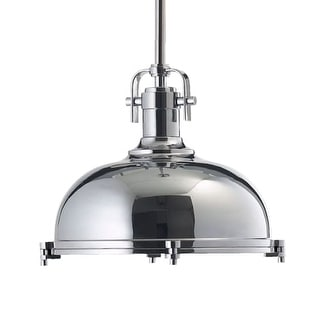 Quorum International 804-17 1 Light Industrial Dome Shaped Indoor Pendant