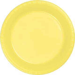 Club Pack of 240 Mimosa Yellow Disposable Plastic Party Dinner Plates 8.75""