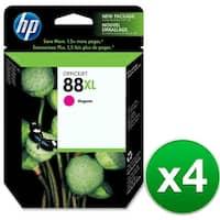 HP 88XL High Yield Magenta Original Ink Cartridge (C9392AN) (4-Pack)