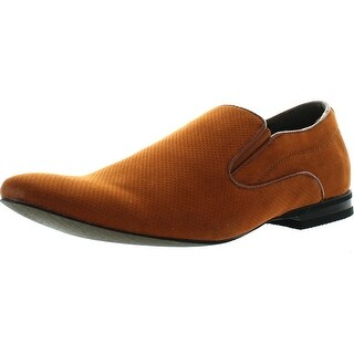 Bravo Mens Dress Shoes Berto-6 Faux Suede Loafer Fashion With A Plain Round Point Toe