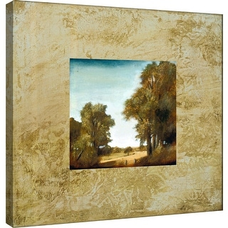 """PTM Images 9-100875  PTM Canvas Collection 12"""" x 12"""" - """"Tecnica IV"""" Giclee Roads & Paths Art Print on Canvas"""