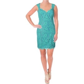 Nicole Miller Womens Lace Sleeveless Cocktail Dress
