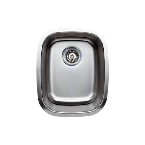 Wells Sinkware Craftsmen Series 15-inch 18-gauge Undermount Single Bowl Stainless Steel Kitchen Sink - Sink Only